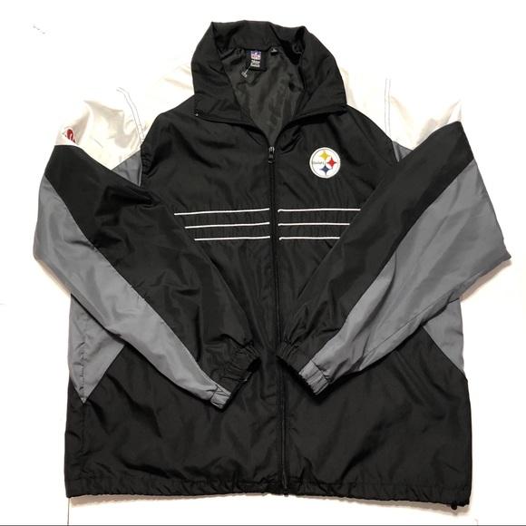 buy popular ded6f d7144 Steelers Windbreaker Jacket Sz Large
